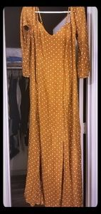 Extra long maxi dress